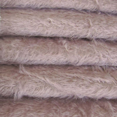 "1/4 yd 300S/C Lilac INTERCAL 1/2"" Ultra-Sparse Curly S-Finish Mohair Fur Fabric"