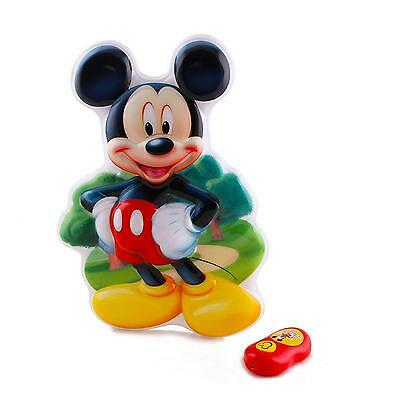 Night Light Talking Wall Disney Mickey Mouse Remote Settings Auto Shut Off NEW
