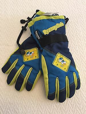 Thinsulate Boys/Girls Spongebob Ski/Snow Gloves 40 Gram Insulation Sponge Bob