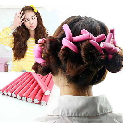 10pcs Flexi rods Foam Hair Rollers Soft Curlers Makers DIY Bendy Twist Curlers