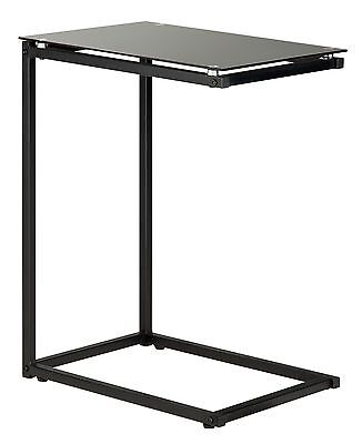 HOME Laptop Table - Glass - Black.