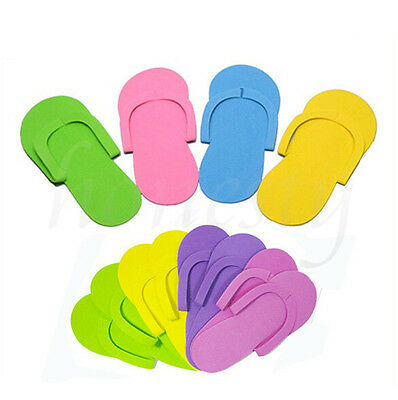 5-30Pairs Disposable Flip Flops Foam Pedicure Tanning Spa Slippers Random Color