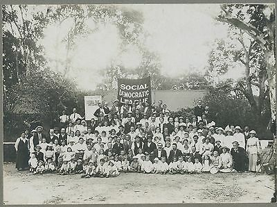 C1890 Political Photo Early Social Democratic League Meeting Melbourne Vic E86