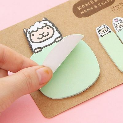 Cute Animal Sticker Post-It Bookmark Marker Memo Index Tab Sticky Notes 4 Colors