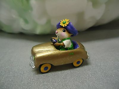 Wee Forest Folk  M-270  Pedal Pusher Mouse Expo Mardi Gras