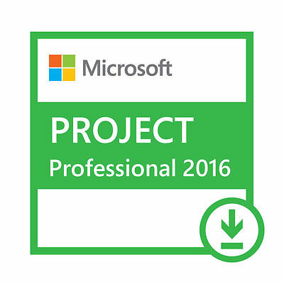 Microsoft Project 2016 Professional Only 1 PC - Same Day Delivery