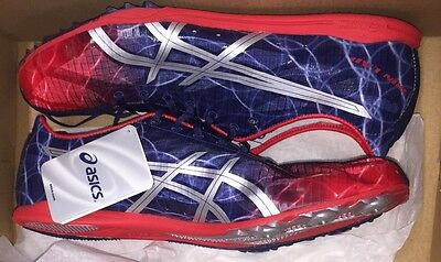 ASICS  Men's GUN LAP TRACK SHOES WITH CLEATS  SIZE 12 STYLE G303N New
