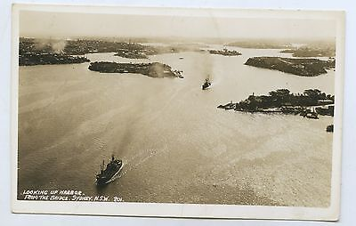 C1935 Rp Npu Postcard Looking Up Sydney Harbour From Bridge E36