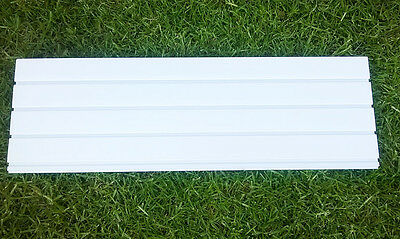 White PVC Slatwall Panels for Home, Garage, Retail Display or Exhibitions