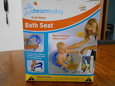 Dreambaby Bath Seat - Fold Away - Front Opening - With Toys On Front Bar -In Box