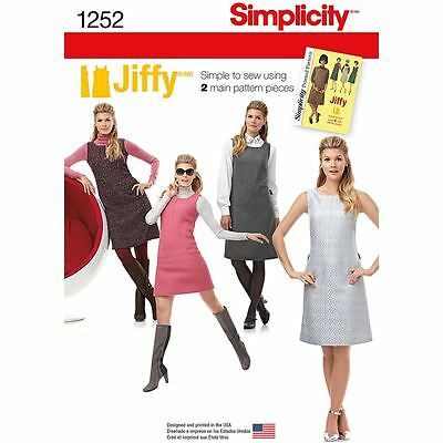 Simplicity Dress Sewing Pattern Haberdashery Accessories 1252 Sizes 14-22