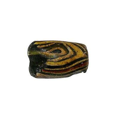 Early Islamic Folded Glass Bead  -  DAMAGED  -  (1410)
