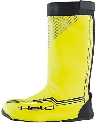 Held Boat Skin Long black neon Yellow Motorcycle Rain protection Boot covers