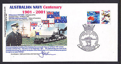 Souvenir Cover Australian Navy Centenary Signed By Designer With Special Booklet