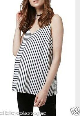 BN TOPSHOP Maternity Stunning Ivory Stripe Strappy Cami Top size uk 8. RRP €38