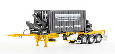 Drake KENWORTH K200 Truck + Drake Dolly and 3x8 Trailer Higgs Heavy Haulage 1:50