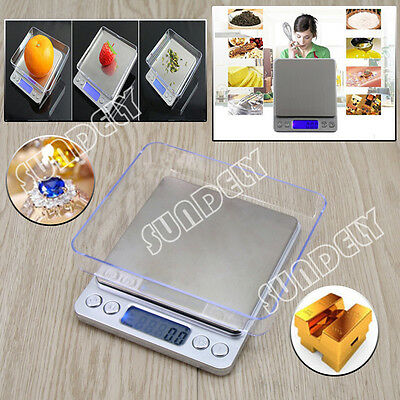 0.1/1000g Digital Kitchen Food Scale Electronic Balance Weight Postal Scales New