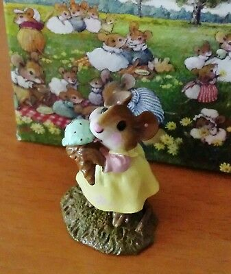 """YUMMY"" by Wee Forest Folk # M-277 Yellow with Mint Chip Cone MINT"