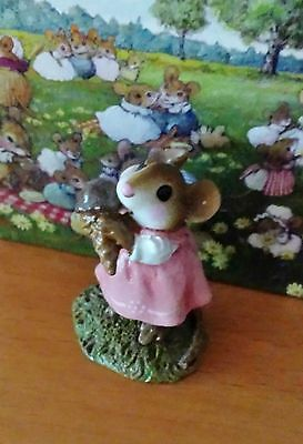 """YUMMY"" by Wee Forest Folk # M-277 Rose with Chocolate Cone MINT"