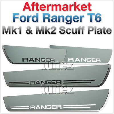 Scuff Plate Door Sill Step Trim LED Light Ford Ranger T6 XL XLS XLT Wildtrak TU