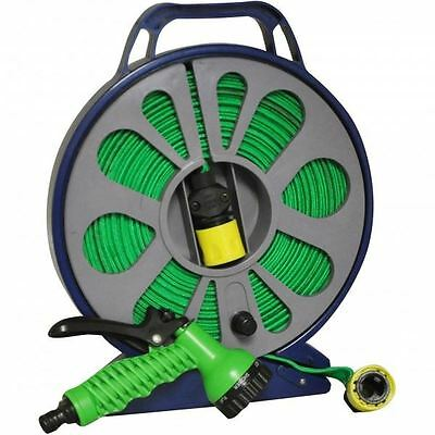 15M Lay Flat Hose In Cassette With Multi Spary Gun And Fittings Light Weight Eas