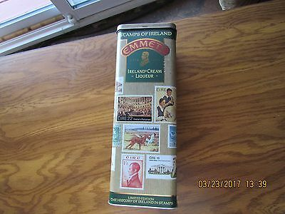 Emmets Limited Edition STAMPS OF IRELAND Liqueur empty tin