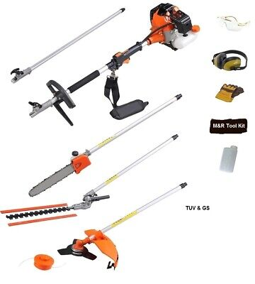52cc Multi Function Garden Tool 5 in1 Petrol Strimmer Hedge trimmer chainsaws