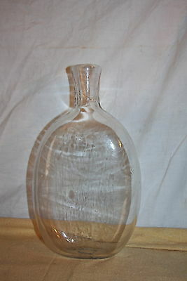 Antique Blown Ovoid Glass Bottle Unusual Form Open Pontil EARLY