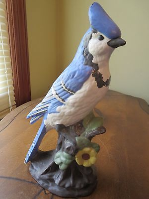 Large Blue Jay Figurine 10 Inches