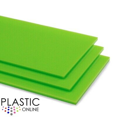 Lime Green Colour Perspex Acrylic Sheet Plastic Material Panel Cut to Size
