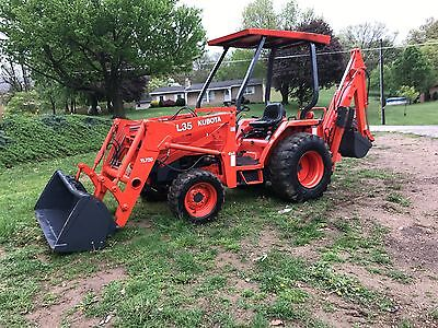 Kubota L35 Diesel Backhoe Loader Tractor 4X4 All In One 540 Pto 3 Point Hitch