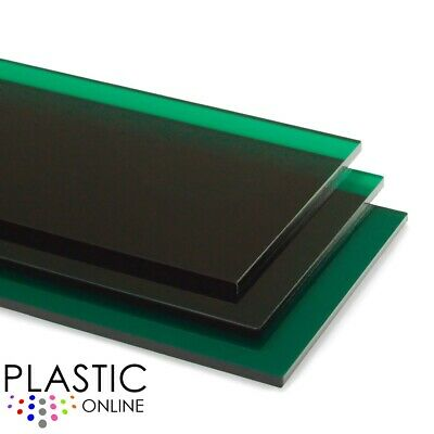 Dark Green Transparent Colour Perspex Acrylic Sheet Plastic Panel Cut to Size