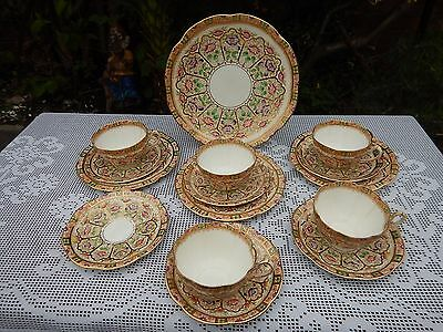 Court China WILLIAM LOWE hand painted 4830 tea service *some A/F*