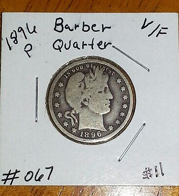 1896 / 25C Barber Quarter! VF. CONDITION !! NICE COIN !!