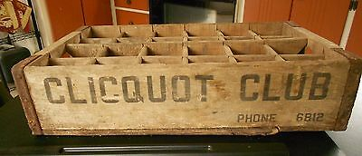 Vintage Clicquot Club Wood Bottle Carrier Crate Advertising Ottumwa, Ia