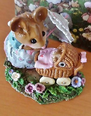 "Wee Forest Folk M-330d ""First Spring Outing"" pink LTED EDITION Retired 2012 Mint"