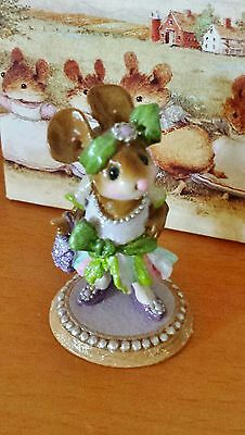 "Wee Forest Folk  M-328 ""Flapper Fanny""  White  Mint"