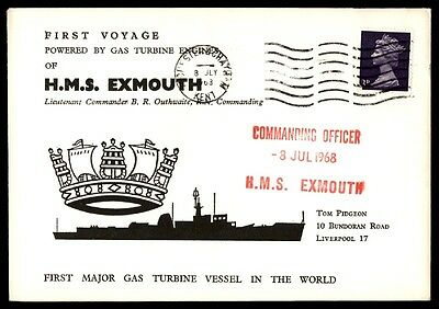 Great Britain HMS Exmouth First Voyage Gas Turbine Engine 1968 cover