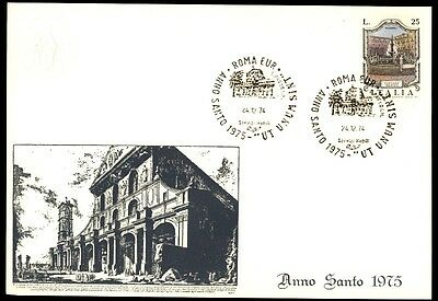Uk Anno Santo 1975 Illustrated First Day Card With Cachet