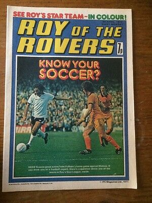 Roy Of The Rovers Comic 9th April 1977 (40th Birthday Gift)