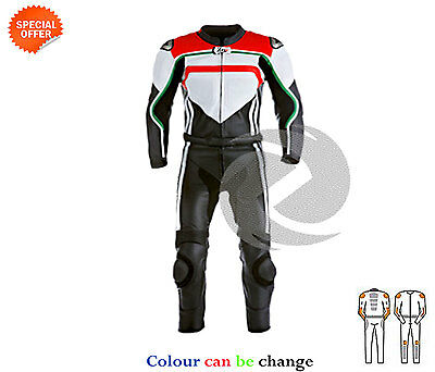 Men two piece cowhide leather suit super bike racing apparel with ce armours