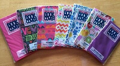 Lot Of 7 New Stretchable Fabric Book Binder Textbook Protective Covers