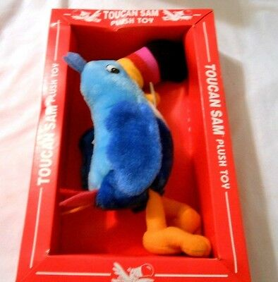 Vtg Toucan Sam Fruit Loops  Cereal New Plush W/box See Pics 1996