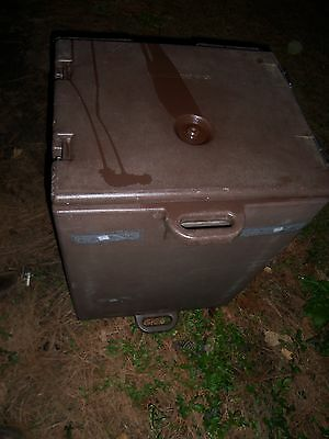 Cambro  Dark Brown Full Size Food Pan Camcarriers with 3 trays