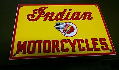 INDIAN MOTORCYCLES porcelain sign...