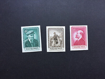 Hungary Scott 1073-75 MLH Imperforate Imperf Complete Set of 3. Lenin. Stalin.