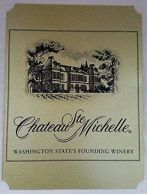 "Vintage Chateau Ste Michelle Winery Sign. 12""X9"". Rare piece!!"