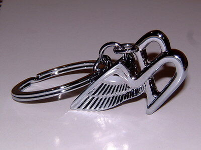 Bentley Flying B Line Polished Chrome Key Ring New In Gift Box W/pouch! Sweet!