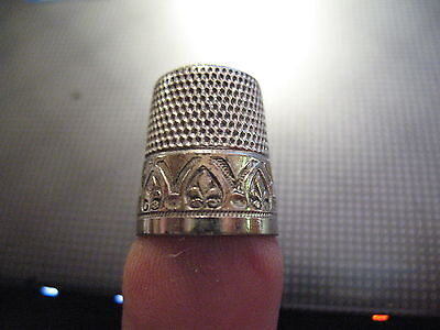 Sterling Silver Thimble - Size 7 Or 8