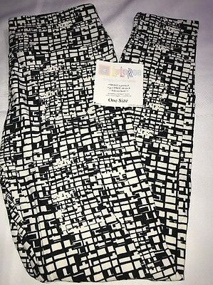 LuLaRoe OS leggings One Size NWT Black & White